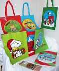 CHRISTMAS CLEARANCE SALE PEANUTS SNOOPY THEME TOTE GIFT BAGS CHECK ALL PICTURES