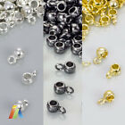 SILVER GOLD PLATED BAIL OD:4mm ID:2mm HANGER BEAD Carrier SPACER Holder