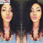 Curly Human Hair Lace Front Wigs For African American Women Indian Remy Hair Wig