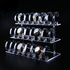 1 2 3 Tiers Stands Clear Acrylic Jewelry Watch Retail Display Showcase