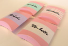 10 x PINK PILLAR FAVOUR BOXES PERSONALISED GIRLS PARTY CUSTOM NAME PLACE LABEL