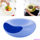 Double Layer Circular Melon Seeds Storage Box Snack Holder Cosmetic Organizer
