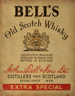 BELLS OLD SCOTCH WHISKY BAR KNEIPE KÜCHE BLECHSCHILD NOSTALGIE