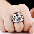 Boba Fett Star Wars Men's Stainless Steel Ring. Heavy Biker Style. UK SELLER.