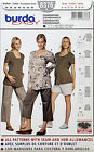 BURDA PATTERN COORDINATES TOP CAPRIS SHORTS EASY SIZE 8-20 # 8376