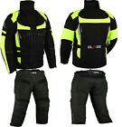 NEW BIKER OUTFIT jacket and pants - TEXTILE - BREATHABLE WIND+WATERPROOF. L