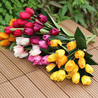 1 Bouquet 9 Heads Fake Tulip Artificial Silk Flower Office Wedding Decor Eager