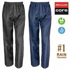 WATERPROOF & WINDPROOF ADULTS RAIN OVER TROUSERS • Mens & Womens • BLACK or NAVY