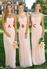 Long Chiffon Bridesmaid Dresses Formal Evening Wedding Party Prom Cocktail Gowns