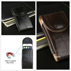 """Vertical Leather Case Cover Pouch Holster + Belt Clip for Large Cell Phones 5.5"""""""