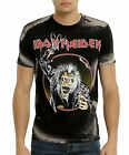 Iron Maiden T-Shirt Hooks in You Bleached metal rock Official L 2XL 3XL NWT
