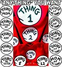 Dr Seuss Thing 1 and Thing 2 T-shirts CUSTOM & #'S Thing one and Thing 2 T-shirt