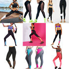 Damen Leggings Tights Sporthose Laufhose Fitness Yoga Gym Sports Jogging GR.M-XL
