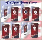 3D AMERICAN BASEBALL TEAM I PHONE  CLIP ON PHONECOVER/CASE