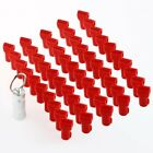 50X Plastic Shop Display Slatwall Hook Anti Sweep Theft Stop Lock + Detacher US