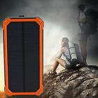 Waterproof 300000mAh Portable Solar Panel Charger Dual USB Battery Power Bank #4