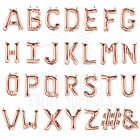 """ROSE GOLD FOIL BALLOON LETTERS NUMBERS 16""""/ 41CM BIRTHDAY BABY WEDDING"""