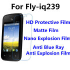 3pcs For Fly-iq239 High Clear/Matte/Nano Explosion/Anti Blue Ray Screen Film