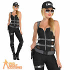 Adult Sexy Cop Costume Ladies Police Uniform Womens SWAT Fancy Dress Outfit