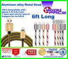 Lot 6ft Usb Fast Charger Data Sync Cable Nylon Braided Cord For Iphone 5/6/6s/7