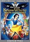 Snow White and the Seven Dwarfs (DVD + Blu Ray, 3 Disc Set) Brand New Sealed