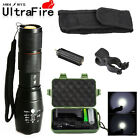 Military 10000LM Tactical 18650 LED Flashlight T6 Zoomable Lamp + Battery Kit