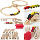 IKEA Lillabo Wooden Toy Train Track and Engine Sets - Childrens Railway Play Set