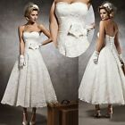 New A-line White/Ivory Wedding Dress Bridal Gown Stock Size 6 8 10 12 14 16 18