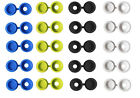 WHITE YELLOW BLACK BLUE COLOURED NUMBER PLATE SCREW SNAP COVER CAPS - 1st Post