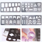 BORN PRETTY Stamping Guide Templates Stainless Steel Full French Nail Tips