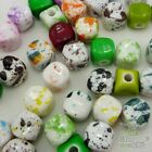 100/500pcs Abstract Colour Square Shape Plastic Beads Eco-friendly Material 10mm