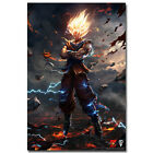 Dragon Ball Z Goku Anime Art Silk Poster Canvas Print 12x18 24x36inch
