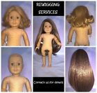 """Most 18"""" 16"""" America Girl Doll Types -  Repair Restoration WIG REPLACEMENT 18"""