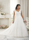 Plus Size White/Ivory Wedding Dress Bridal Gown Size 14W 16W 18W 20W 22W 24W 26W