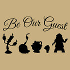 Be Our Guest Beauty And Beast Craft Vinyl Glass Wall Sticker Decal Decor