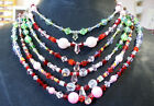Pretty & Colorful Hand Made Girl party Crystal Necklace, each design is unique!!