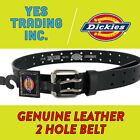 Work BeltNew Dickies Mens Leather Two Hole Double Prong Bridle Belt Sizes 32-44