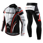 Mens Cycling Jerseys Pants Long Sleeve Kit Design Bicycle Padded Tights Clothing