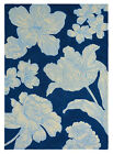 NEW Navy Wedgwood Vibrance Wool Rug