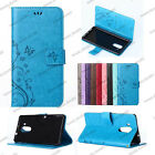 Embossed Flower Butterfly Colorful Leather Case Cover Stand for Huawei Phones