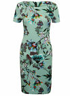 NEW M&S FLORAL WIGGLE SHIFT PARTY BODYCON CASUAL OFFICE DRESS SIZE 8 TO 22
