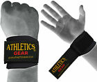 Wrist Brace Grip Support Gym Gloves Strap Weight Lifting Body Building Athletics
