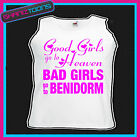BAD GIRLS GO TO BENIDORM HEN PARTY HOLIDAY VEST TOP