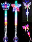 Led Flashing Fairy Butterfly Crown Star Wand Light Up with Music XMAS Party Gift