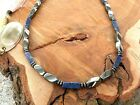 Men's Blue Sodalite Magnetic Hematite Necklace THERAPY Free Shipping STRONG!