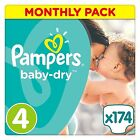 Pampers New Baby Nappies Monthly Pack Mega Box Saving Pack Size 0 1 2 3 4 4+ 5 6