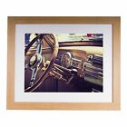 "Inside of a classic American 60's car 20""x16"" Premium Framed Print"