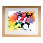 "Female Tennis Players 20""x16"" Premium Framed Print"