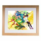 "Female Tennis Player 20""x16"" Premium Framed Print"