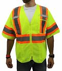 Внешний вид - Class 3,  Lime Two Tones Safety Vest , ANSI/ ISEA 107-2015